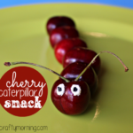 Healthy Cherry Caterpillar Snack Idea for Kids
