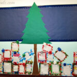 DIY Christmas Tree & Presents Classroom Bulletin Board Idea