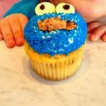 DIY Cookie Monster Cupcake Idea For Kids