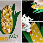DIY: Easy Corn Craft für Kinder mit echtem Popcorn