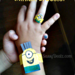 How To Make a Despicable Me Minion Kid's Bracelet (Cheap DIY Paper Craft)