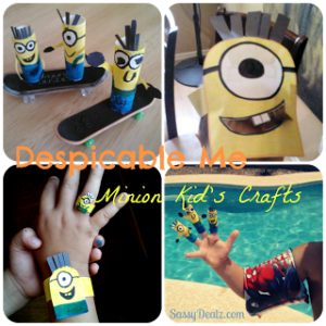 List of Cheap 'Despicable Me' Crafts for Kids (Toilet Paper Rolls, Bottles, Spoons, Hats, etc)