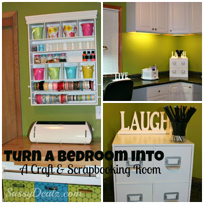 Transforming A Bedroom Into A Craft Amp Scrapbooking Room