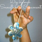 Dough Snowflake Glitter Ornaments (Christmas Craft For Kids)