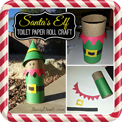 Santa's Elf Toilet Paper Roll Craft For Kids