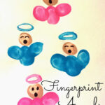DIY Fingerprint Singing Angel Craft For Kids