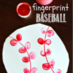 Fingerprint Baseball Craft for Kids