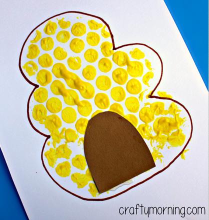 Bubble Wrap Beehive Fingerprint Bee Craft Crafty Morning