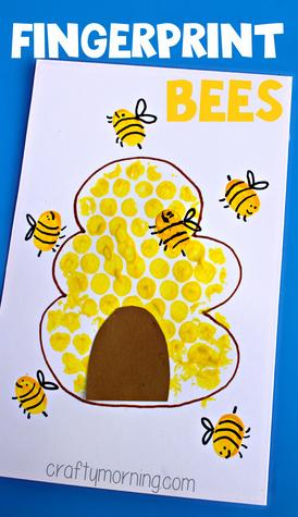 fingerprint-bee-craft-for-kids