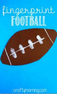 Easy Fingerprint Football Craft for Kids