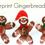 DIY Fingerprint Gingerbread Man Craft For Kids