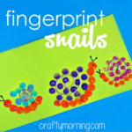 Cute Fingerprint Snail Craft for Kids