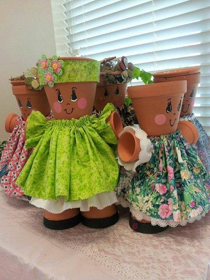 flower-pot-girls-people-craft