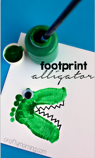 footprint-alligator-craft-for-kids