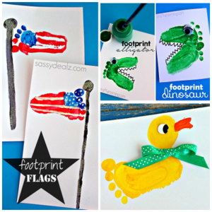 Adorable Footprint Crafts for Kids to Make