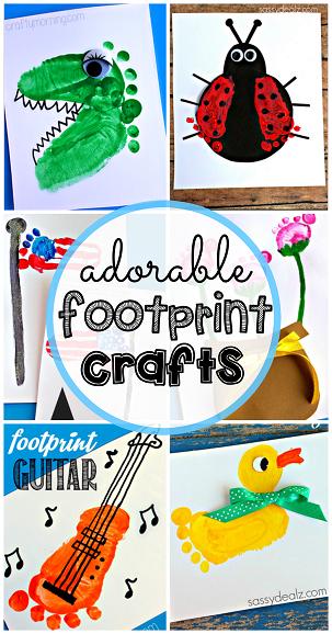 footprint-crafts-for-kids-to-make