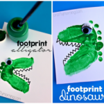 Alligator & Dinosaur Footprint Crafts for Kids