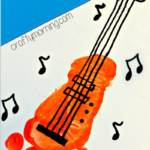 Footprint Guitar Craft for Kids