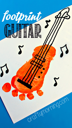 footprint-guitar-craft-for-kids