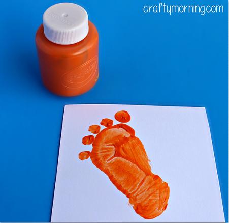 footprint-guitar-kids-craft