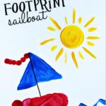 Footprint Sailboat Craft for Kids to Make