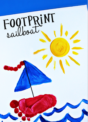 Footprint Sailboat Craft For Kids To Make Crafty Morning