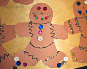 Gingerbread Man Christmas Craft Idea For Kids