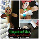 Gingerbread Man Toilet Paper Roll Craft For Kids (Cute Christmas Art Project!)