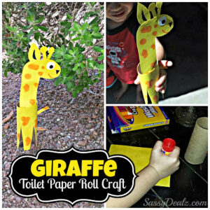 DIY Giraffe Toilet Paper Roll Craft for Kids (Zoo Theme Activity!)