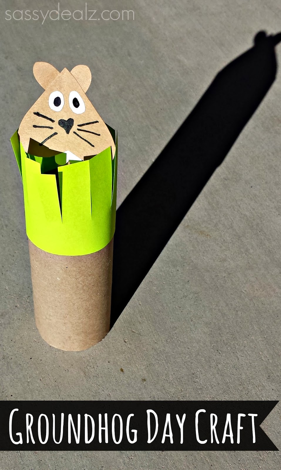 Groundhogs day toilet paper roll craft for kids crafty for Fun crafts with toilet paper rolls