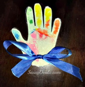 Rainbow Chalk Handprint Kid's Craft (Preschool or Kindergarten Keepsake)