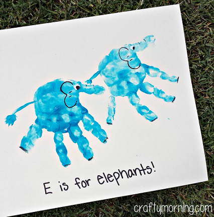 Handprint Elephant Craft For Kids To Make Crafty Morning