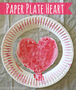 Paper Plate Heart Craft For Kids