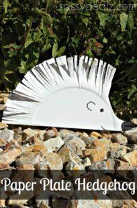 DIY Hedgehog Paper Plate Craft For Kids