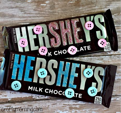 DIY Baby Shower Favors (Hershey's Chocolate Bars) - Crafty Morning