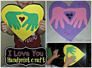 DIY: I Love You Handprint Craft For Kids (Great Keepsake Gift!)