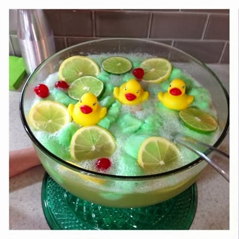Lime Sherbet Punch Recipe {Rubber Ducky Baby Shower Idea}   Crafty Morning