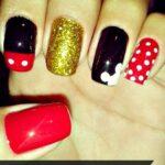 DIY Mickey Mouse Nail Design