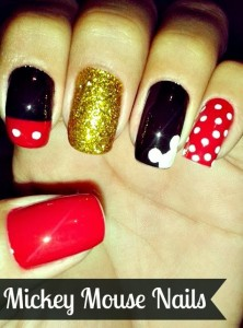 DIY Mickey Mouse Nail Design