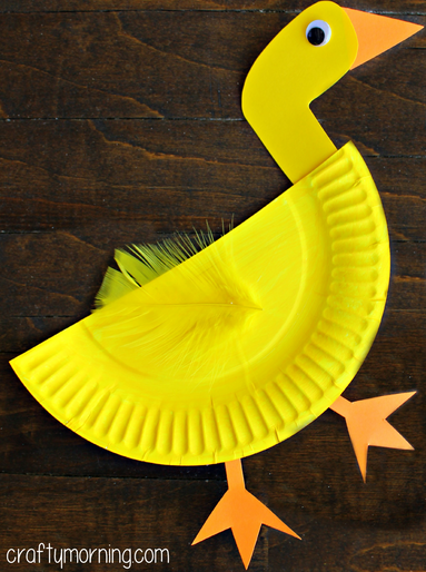 Paper Plate Duck Craft For Kids Crafty Morning