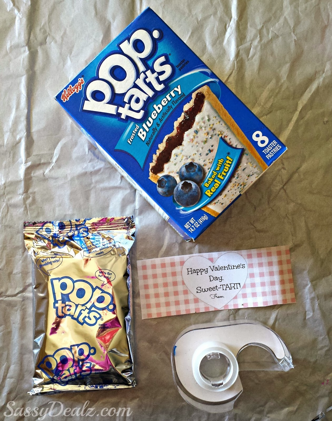 Pop Tart Valentine s Day Gift Idea For Kids Crafty Morning