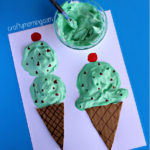 puffy-paint-ice-cream-cone-craft-for-kids