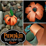 Pumpkin Toilet Paper Roll Craft For Kids (Halloween Idea)