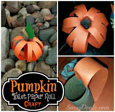 Pumpkin Toilet Paper Roll Craft For Kids (Halloween Idea)