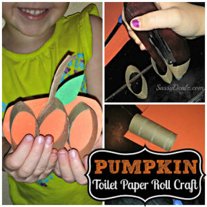 Toilet Paper Roll Halloween Pumpkin Craft