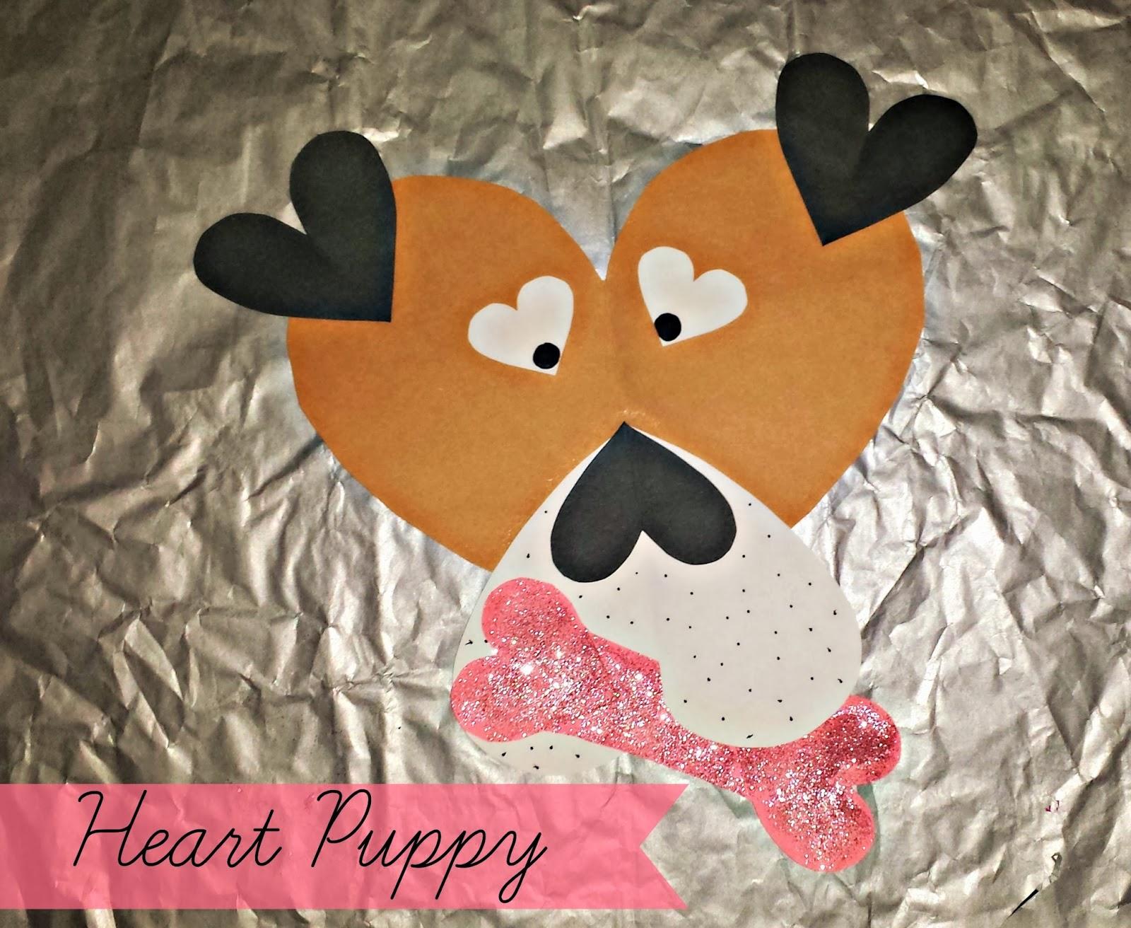 Valentine 39 s day puppy craft for kids crafty morning for Valentines day kids crafts