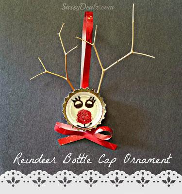 Bottle Cap Reindeer Christmas Craft For Kids (Cute Ornament Idea!)