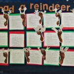 Footprint Reindeer Bulletin Board Idea For Christmas