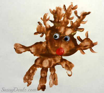 paper roll rudolph reindeer craft rudolph the nosed reindeer handprint project for 7027