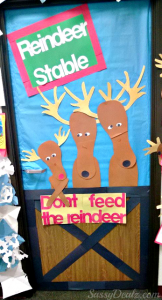 """""""Don't Feed The Reindeer"""" Classroom Door Decoration For Christmas"""